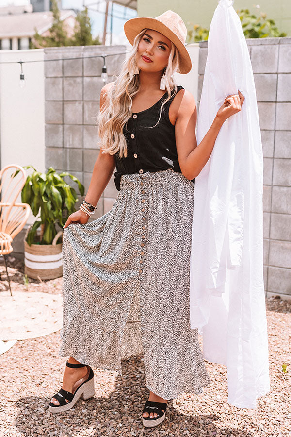 Wonderful Wishes Maxi Skirt
