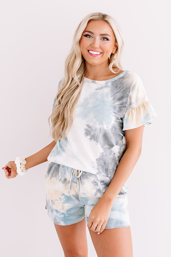 Time To Relax Tie Dye Shift Top