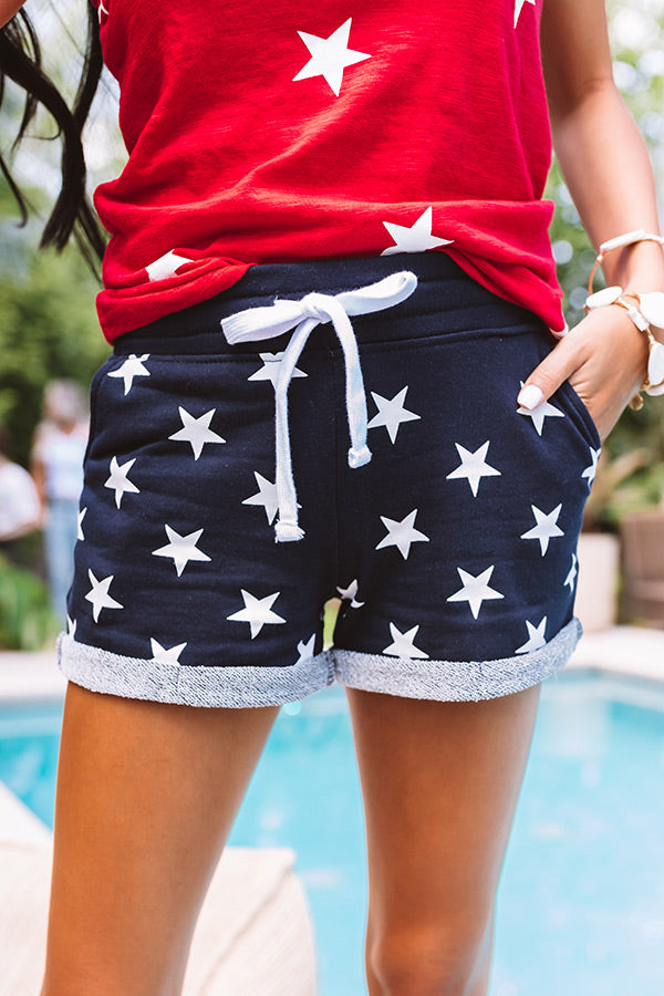 Starcrossed Shorts In Navy