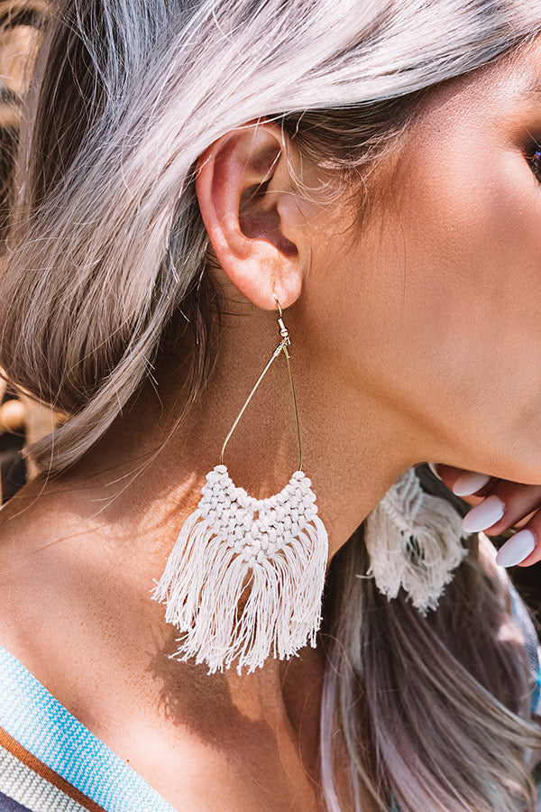 Prim And Pretty Earrings In Stone