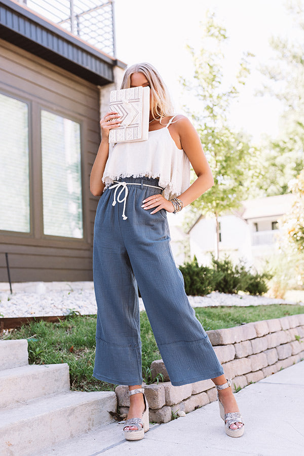 The Lachlan High Waist Pants In Slate