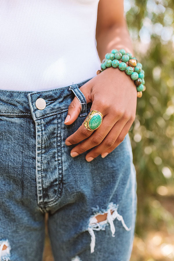 Then And Now Ring in Turquoise