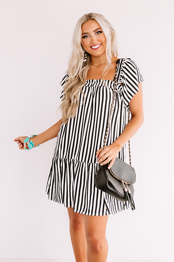 Regatta Bliss Stripe Shift Dress In Black
