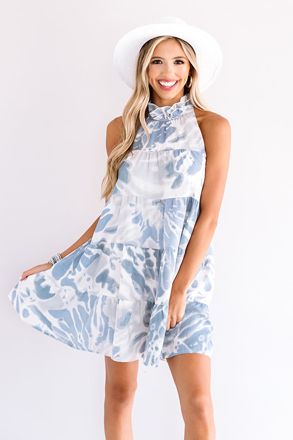 Center Of The Stage Shift Dress In Blue