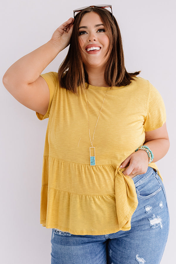 City Square Shift Top In Marigold