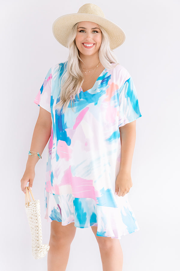 Beyond Reason Shift Dress In Ocean Blue
