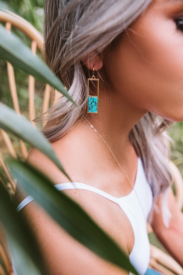 Minor Details Earrings In Turquoise