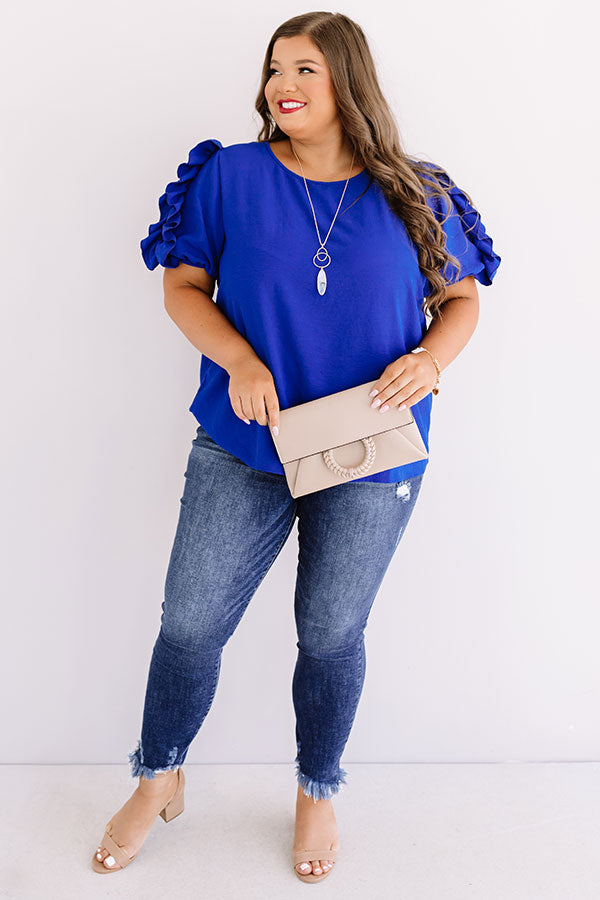 Talkin' About Tulum Shift Top In Royal Blue