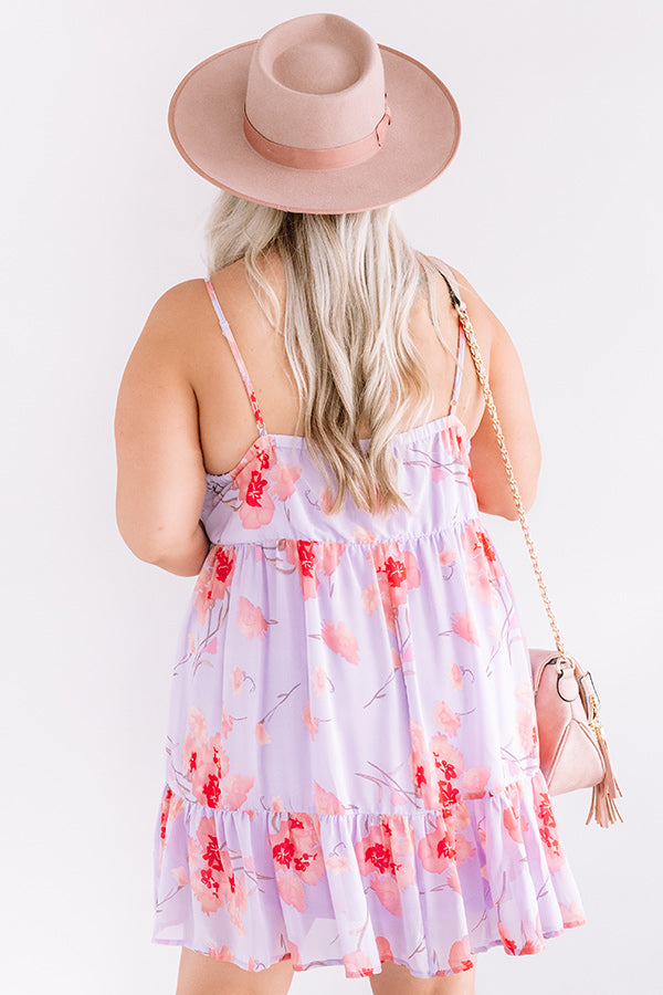 Waterfall Romance Floral Babydoll Dress