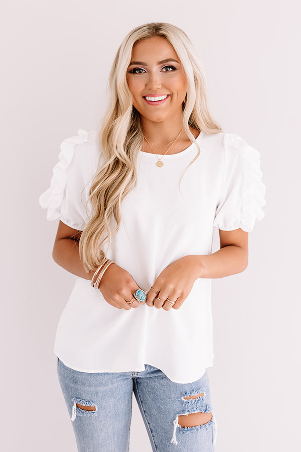 Talkin' About Tulum Shift Top In White