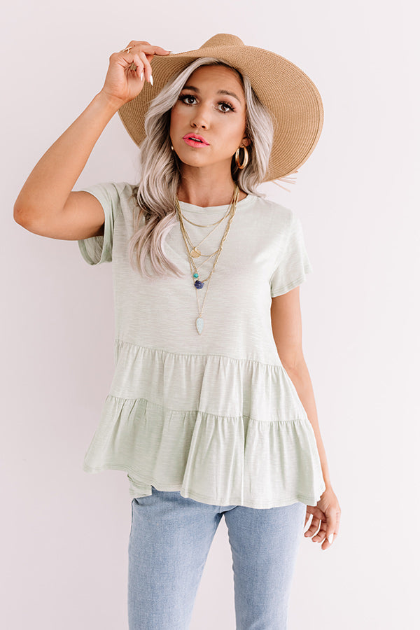 City Square Shift Top In Pear