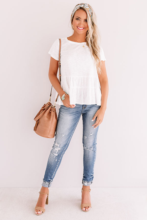 City Square Shift Top In White
