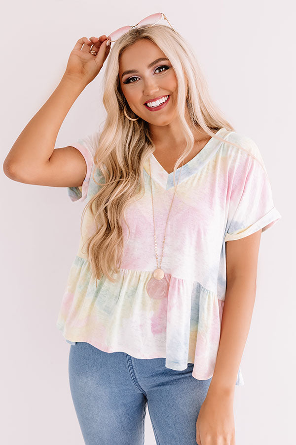 High Spirited Tie Dye Top
