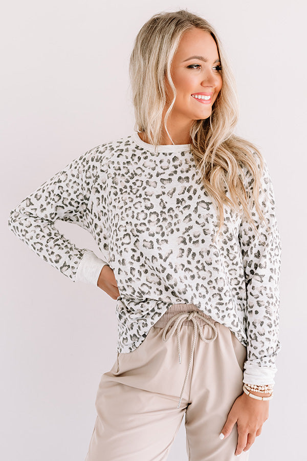 Nothing Better Than This Leopard Top In Grey
