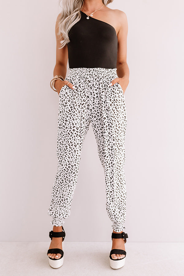 The Tisha High Waist Leopard Joggers