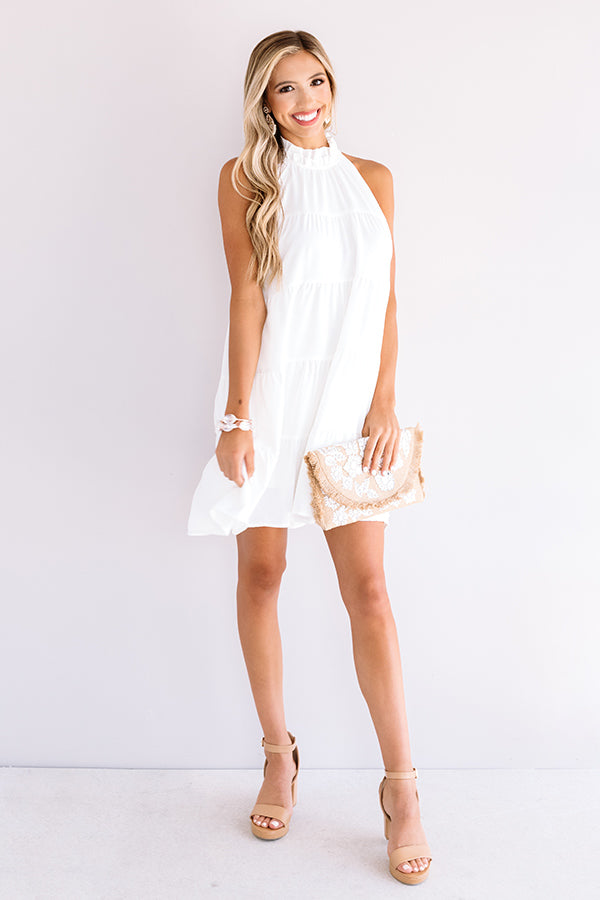 Rome On My Mind Shift Dress In White