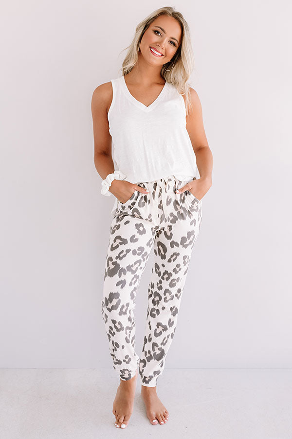 Snuggly Babe Leopard Joggers