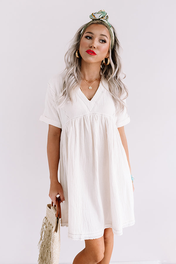 Truly Tempting Babydoll Dress In Ivory