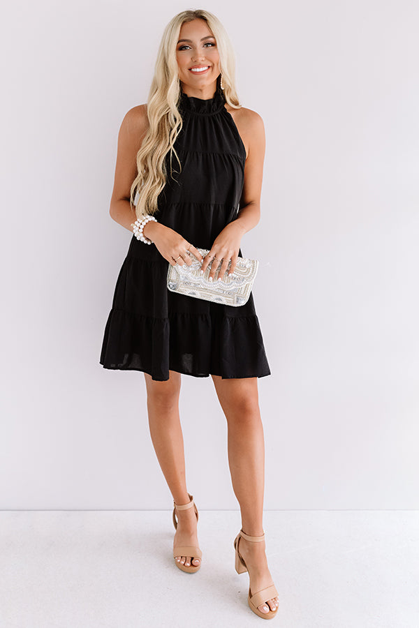 Rome On My Mind Shift Dress In Black