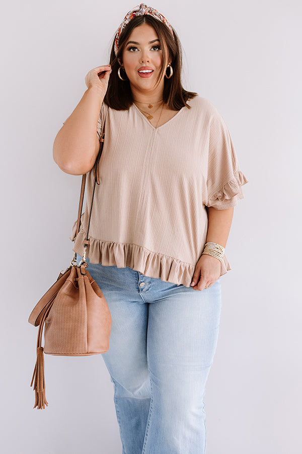 Bombshell Ambition Shift Top In Iced Latte