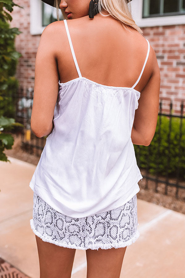 Sweet Whispers Tank In White