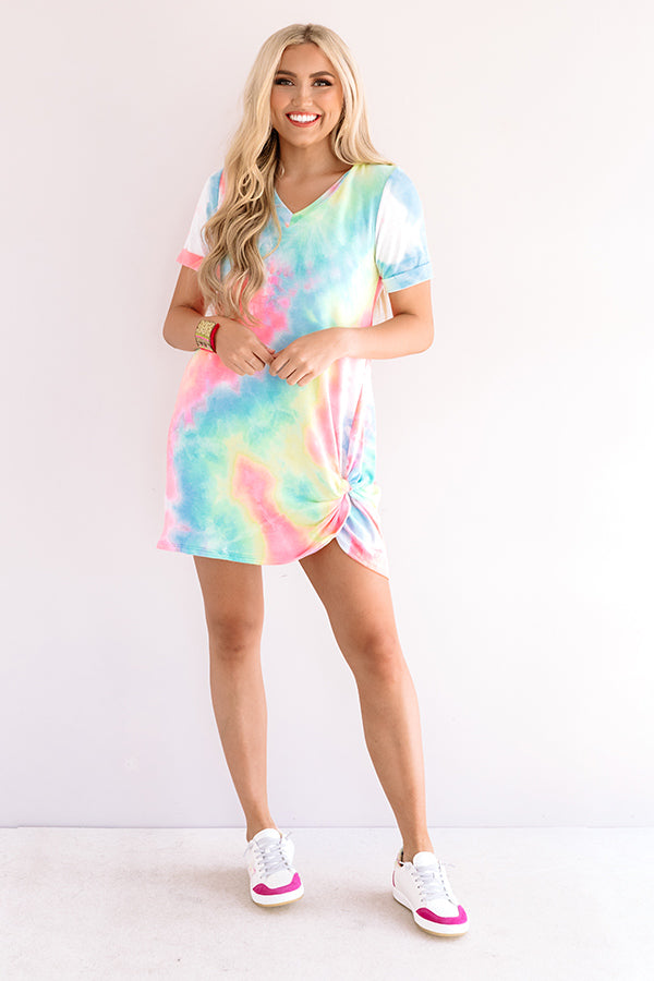 Bright On Track Tie Dye Dress