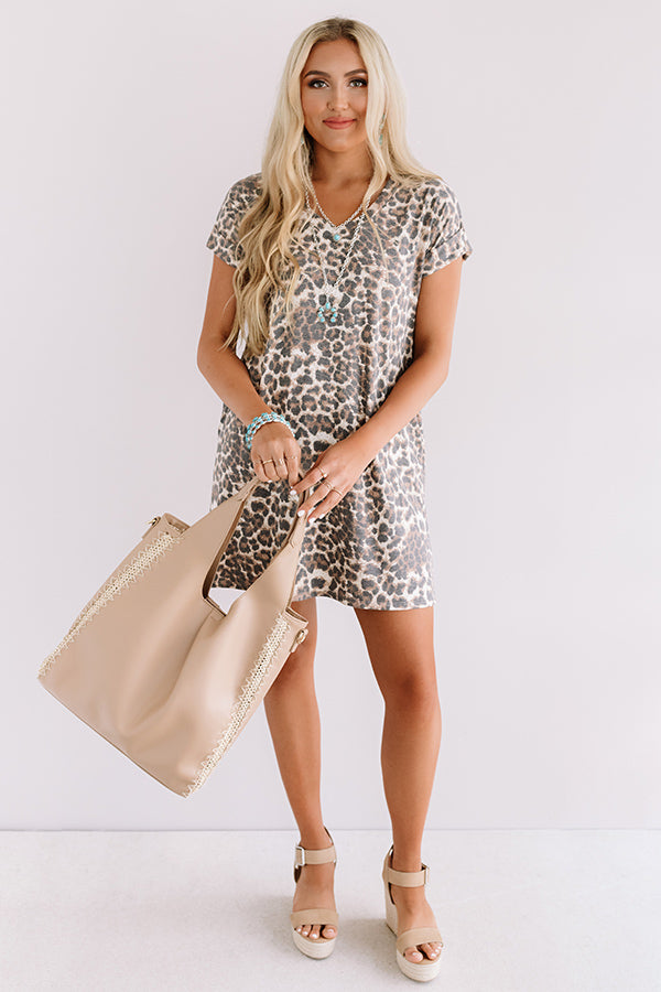 In My Wildest Dreams Leopard Shift Dress