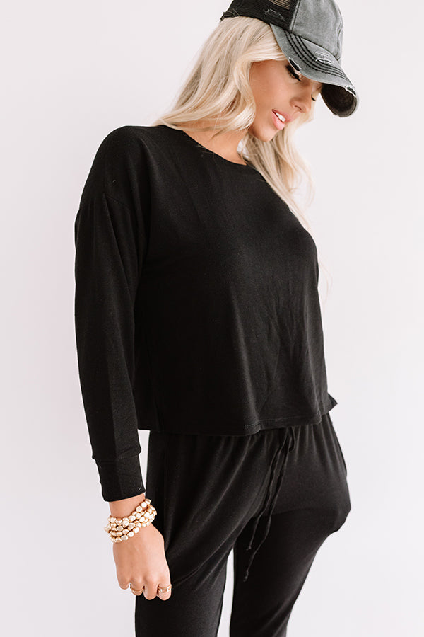 Set To Snuggle Sweatshirt In Black