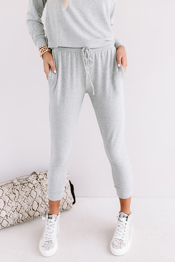 Set To Snuggle Joggers In Grey