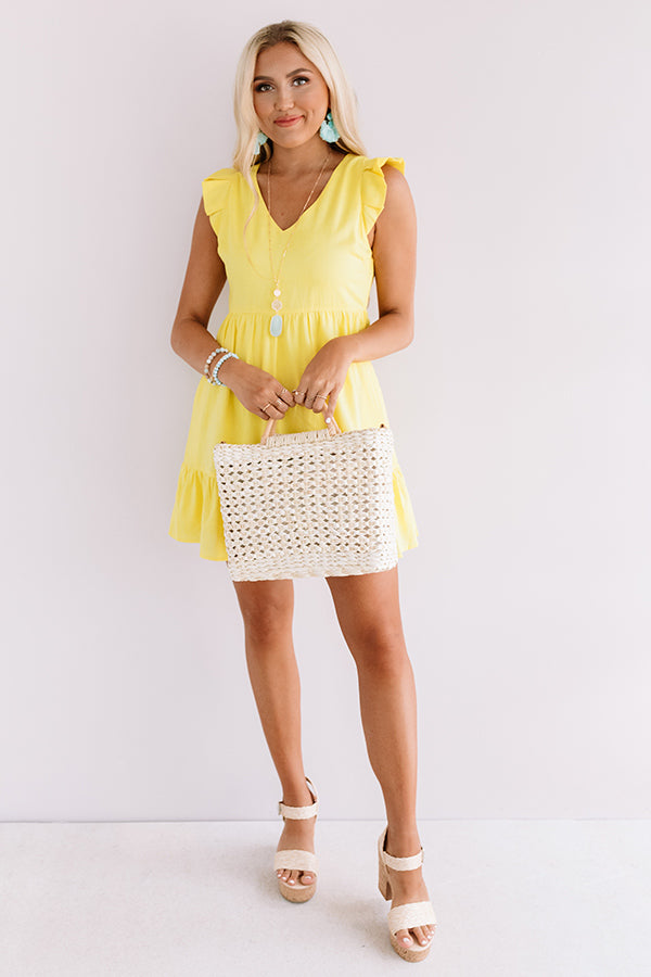 Delightfully Chic Shift Dress In Yellow
