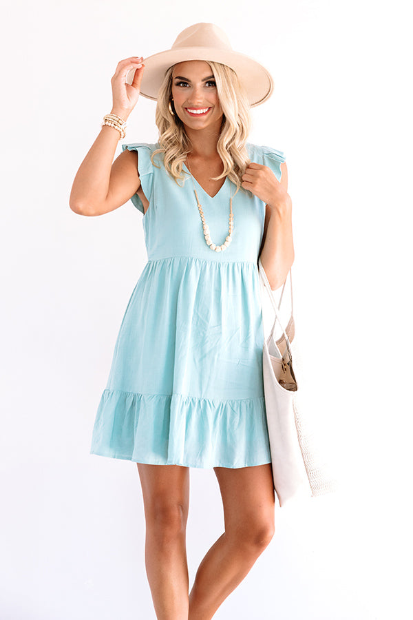 Delightfully Chic Shift Dress In Limpet Shell