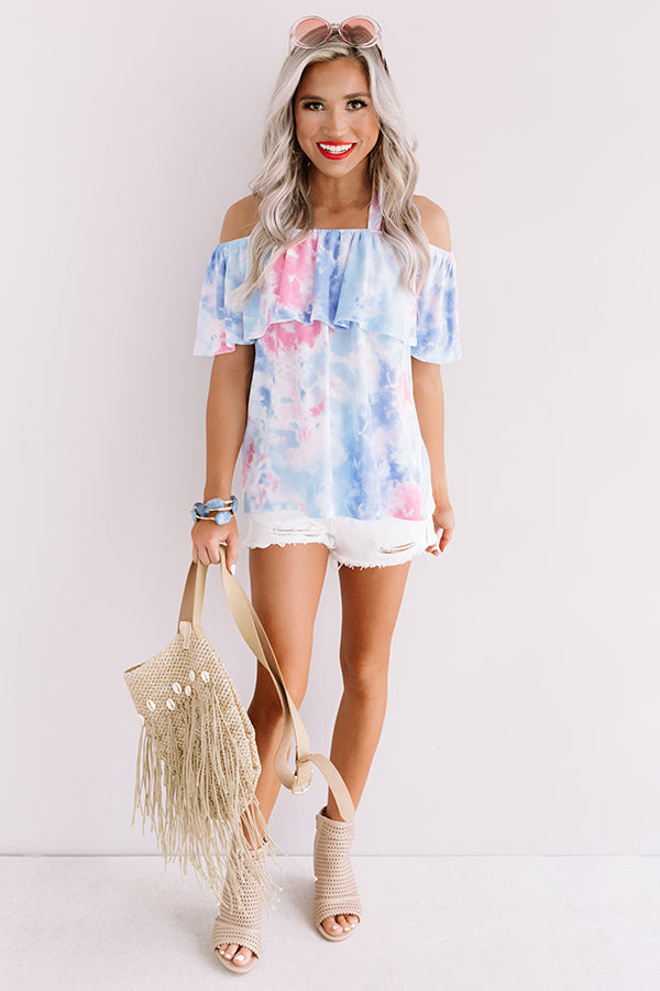 Malibu Mixer Tie Dye Off Shoulder Top