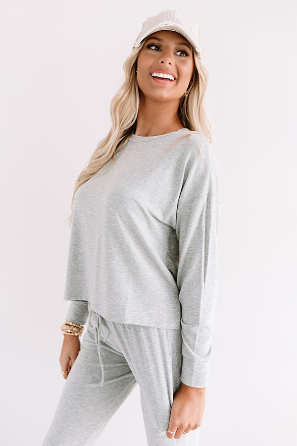 Set To Snuggle Sweatshirt In Grey
