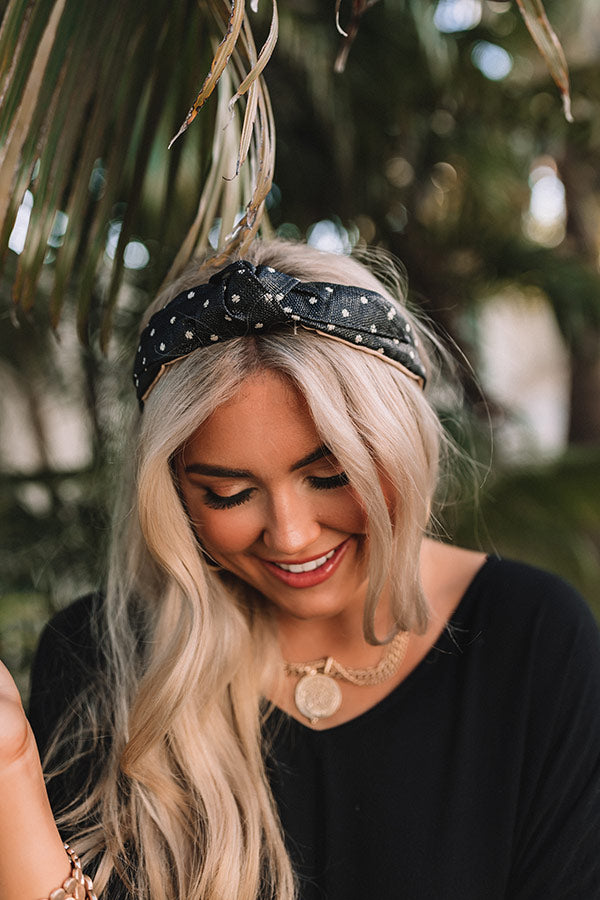 Brunch Bound Raffia Headband In Black