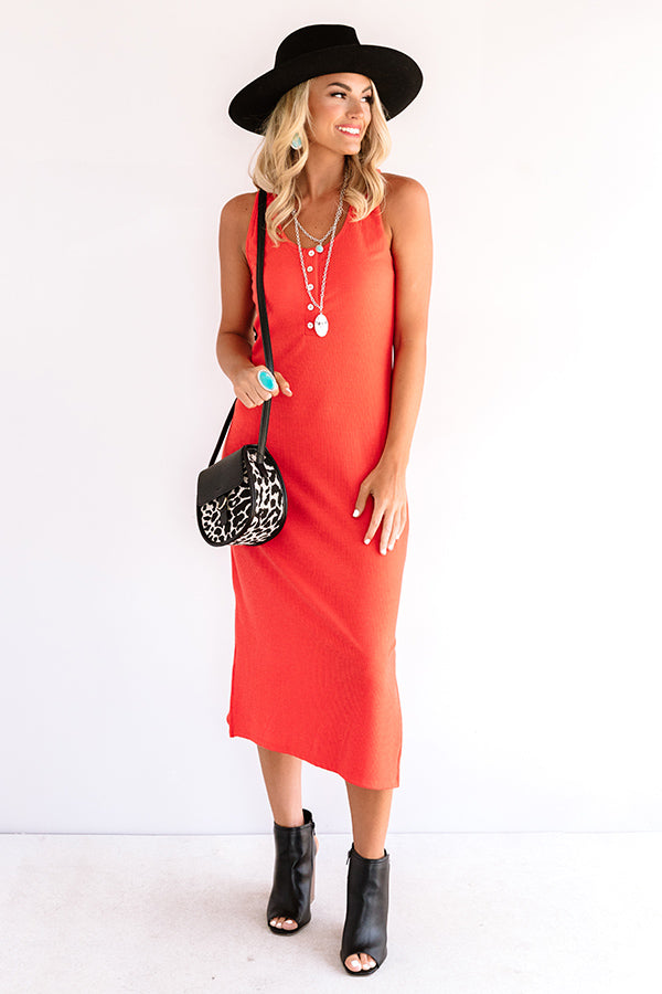 Seaside Mood Midi In Tangerine