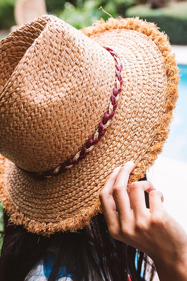 The Yacht Spot Raffia Hat