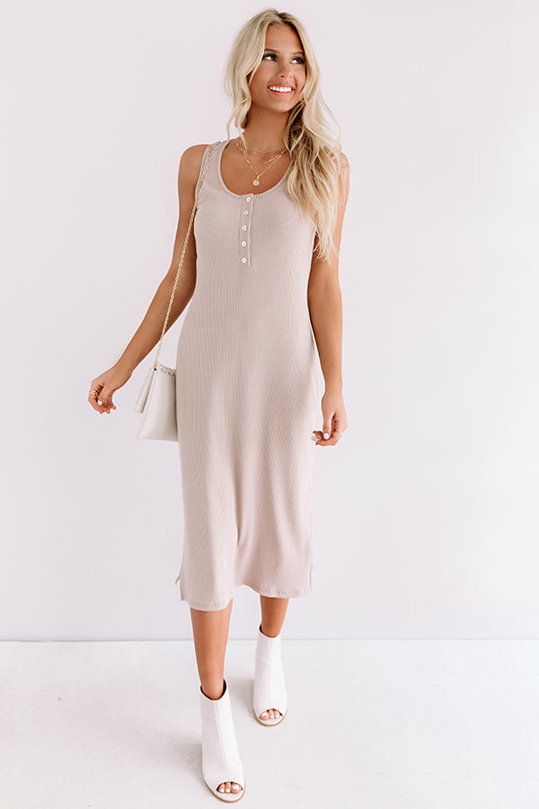 Seaside Mood Midi In Warm Taupe