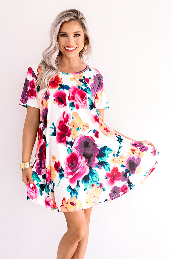 Passage To Paradise Floral Shift Dress