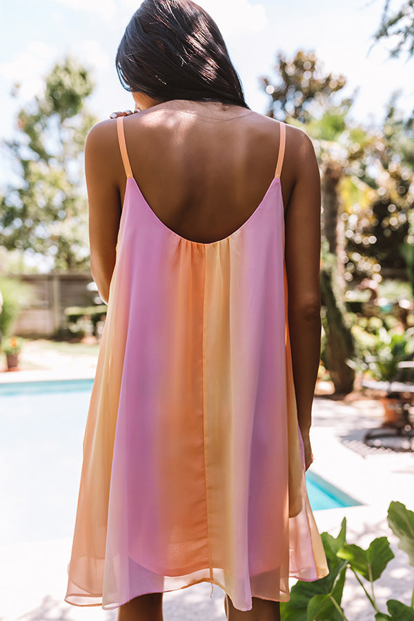 Daiquiris And Daydreams Ombre Shift Dress