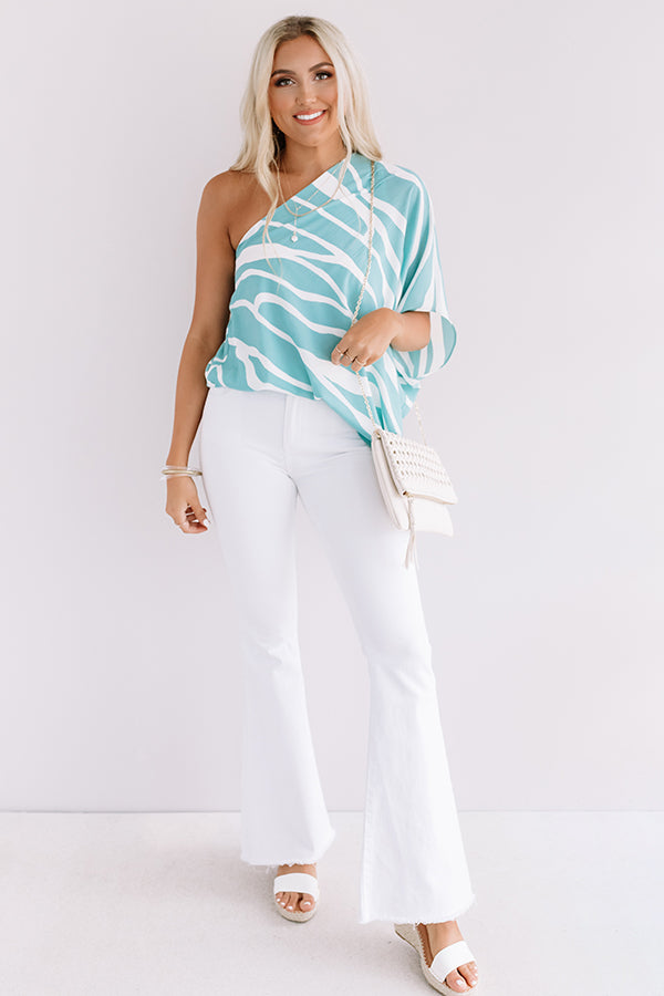 Pretty Prediction Top In Turquoise