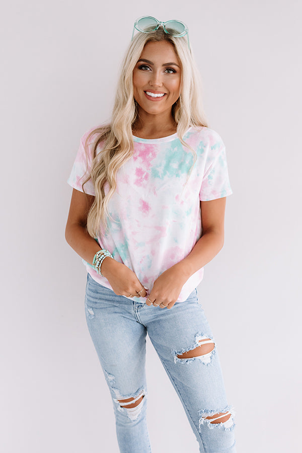 Moment Of Peace Tie Dye Shift Tee