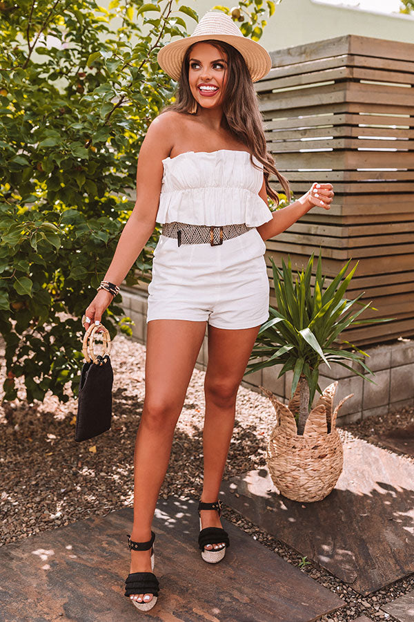Timing Is Everything Romper In White