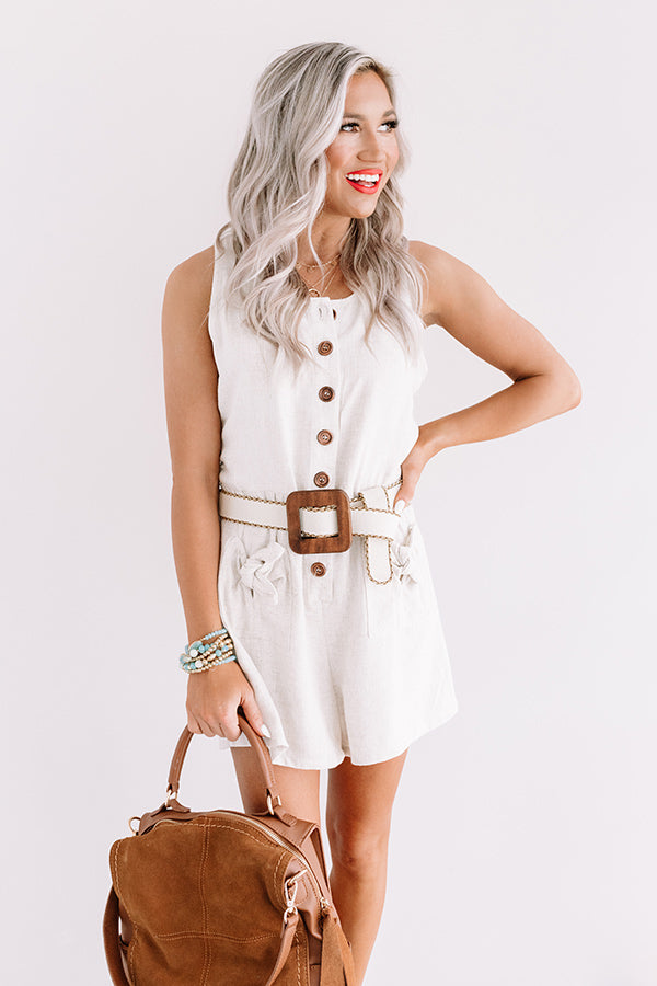 Sunshine Float Romper In Stone
