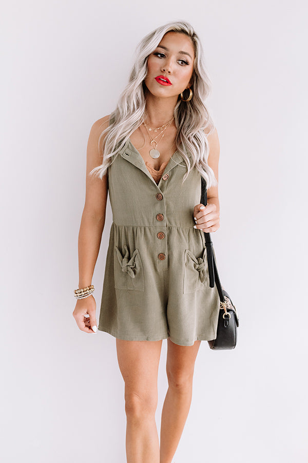 Sunshine Float Romper In Sage