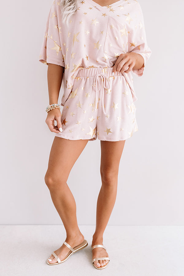 A Hint Of Stardust Shorts In Pink