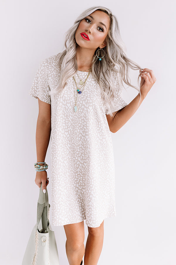 Far And Away Cheetah Print Shift Dress