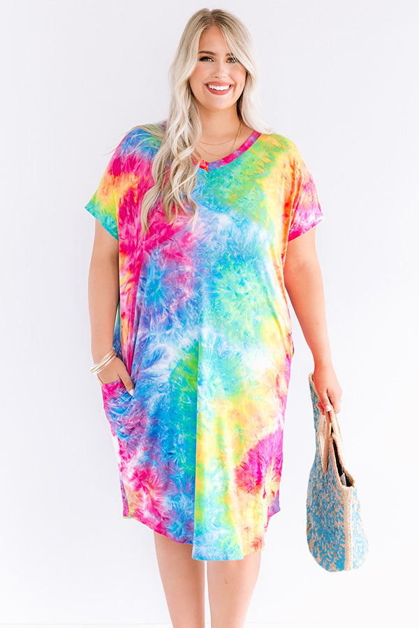 Craving Attention Tie Dye Dress