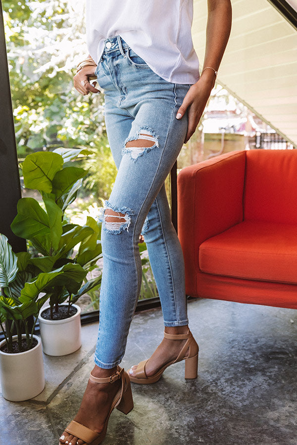 The Petra High Waist Distressed Skinny