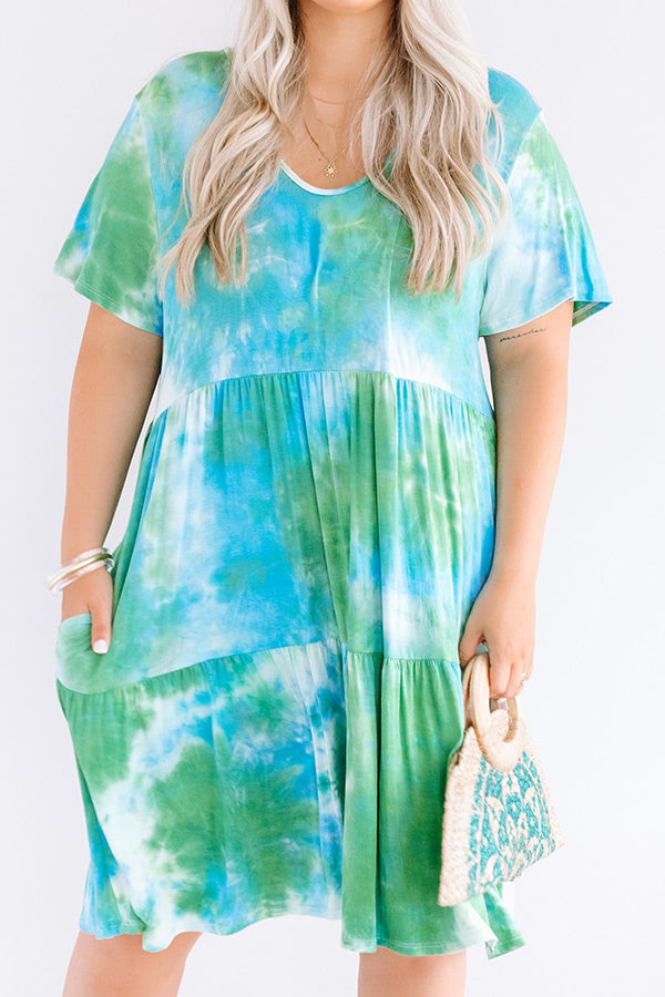 Among The Waves Tie Dye Babydoll Dress