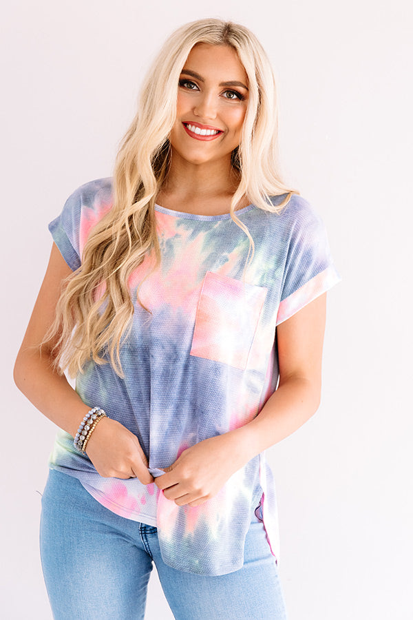 New Flame Tie Dye Shift Tee